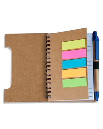 Bloco com caneta de Anotações Ecológico | Bloco com Caneta de Anotações Personalizado para Brindes.