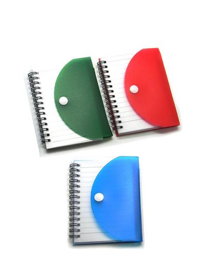 Bloco Promocional com Capa de Plástico | Bloco de anotações personalizado com capa de plástico resis