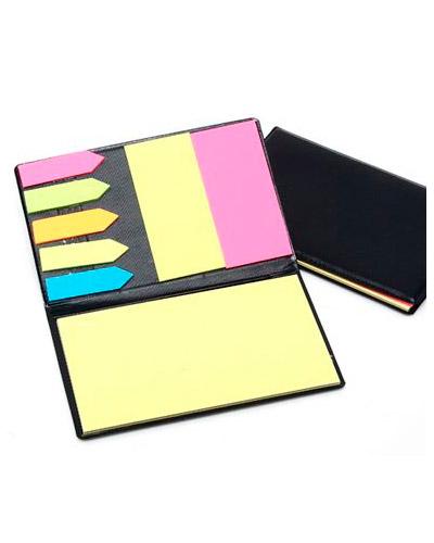 Bloco de Anotações Personalizado em couro | Bloco de Anotação personalizado, com post its coloridos,