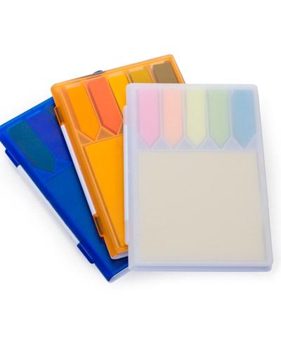 Bloco de Anotações Plástico Personalizado  | Bloco de anotações personalizado e com post-it colorido