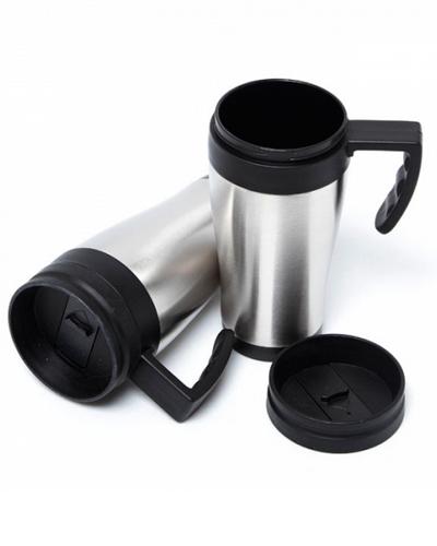 Caneca Térmica Metálica Promocional | Caneca personalizada em Inox. Com personalização da logomarca