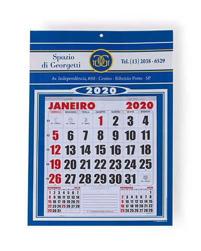 Calendário de Parede Personalizado