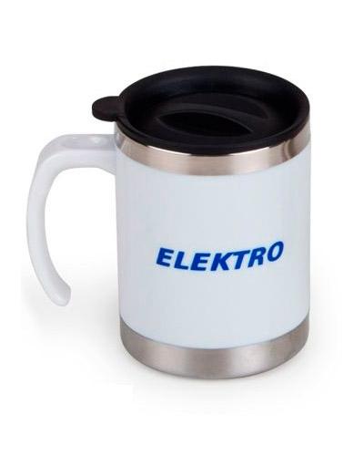 Canecas em Aluminio Personalizada | Caneca personalizada térmica 400 ml, em aço inox revestida em pl