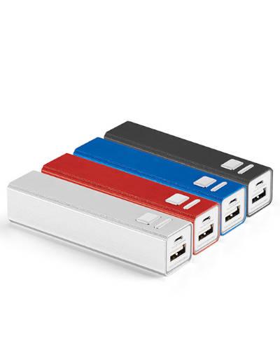 Carregador de Bateria Celular Personalizado | Carregador portátil personalizado USB. Possui 1 conect