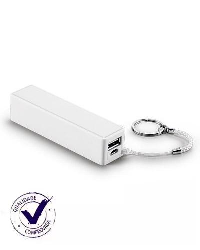 Carregador Portátil USB Personalizado | Carregador portátil USB personalizado. Acompanha 1 bateria Power Bank 2600 mAh e 1 mine cabo USB. É o brinde ideal para distribuir para clientes e colaboradores.  | ST POWER BANK