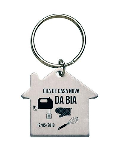 Chaveiro Miniatura Casa  | Chaveiro personalizado, em metal no formato de casa. É o brinde personali