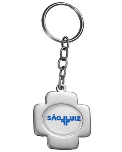 Chaveiro Miniatura Cruz | Chaveiro personalizado, em metal no formato de cruz. É o brinde personaliz
