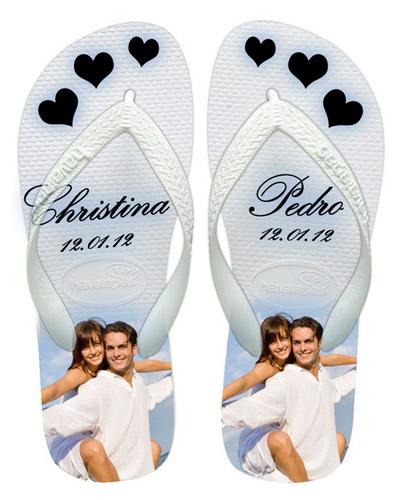 Chinelos Personalizados Casamento - Chinelos Personalizados