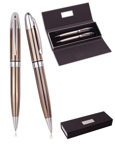 Conjunto de Caneta Personalizado | Conjunto de canetas personalizadas. Contém uma caneta em metal es
