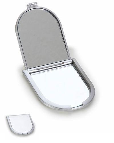 Espelho de bolsa Promocional | Espelho personalizado de bolso em plástico resistente metalizado. A i