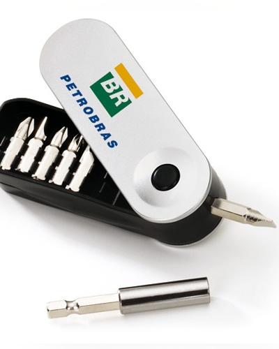 Kit ferramenta Personalizado | Kit Ferramenta Personalizado com impressão da logo em tampografia. Po