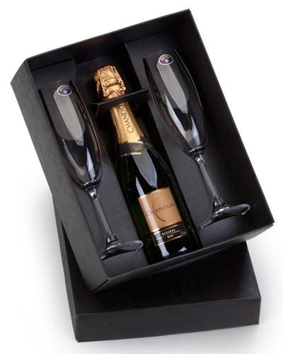 Kit Mini Chandon para Brinde | Kit Mini Champagne Personalizado. Elegante e charmoso, acompanha 1 es