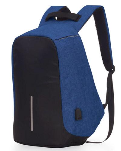 Mochila Anti Furto Azul Personalizada
