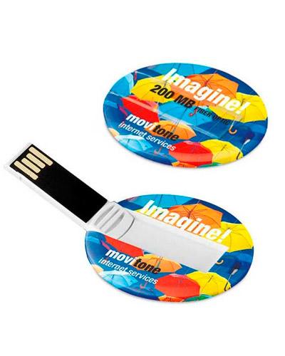 Pen card 4gb Personalizado | Pen card 4gb personalizado. Em formato redondo com impressão digital d