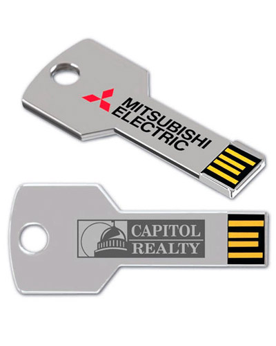 Pen drive 4GB Chave Personalizada | Pen drive personalizado no atacado em formato de chave. Impressã