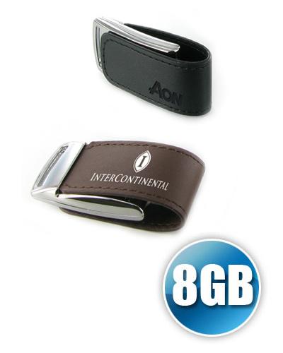 Pen drive 8 GB em Couro