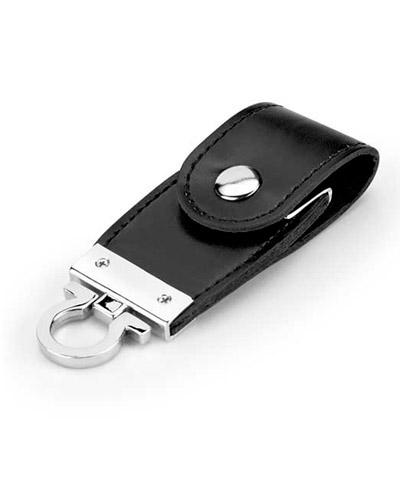 Pen drive Chaveiro em Couro Personalizado | Pen drive de couro pe