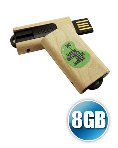 Pen drive de Madeira 8GB Personalizado | Pen drive personalizado no atacado com 8GB de capacidade em