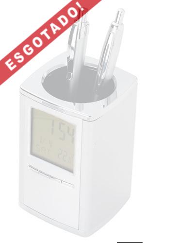 Porta Canetas com Relógio Digital Personalizado