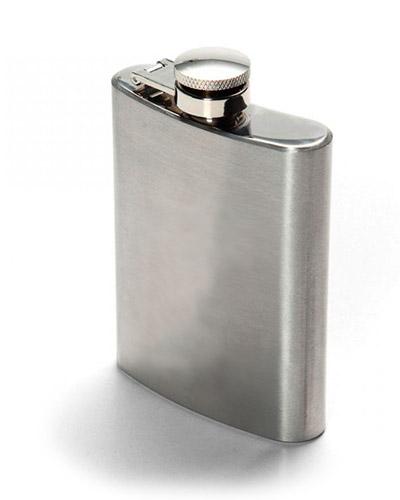 Porta Whisky de bolso Personalizado | Cantil de Bolso Personalizado com medidas de: 12 x 10,5 cm e i