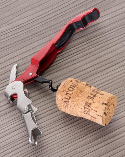 Saca Rolhas Personalizado com Abridor e Canivete