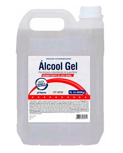 Alcool em gel 5 Litros