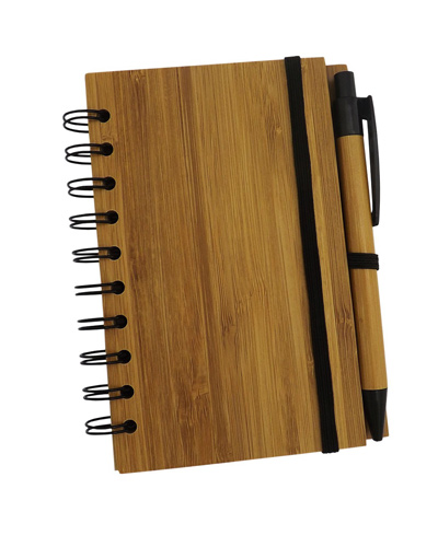 Brindes Personalizados -  Bloco Personalizado Ecológico com Capa de Bambu