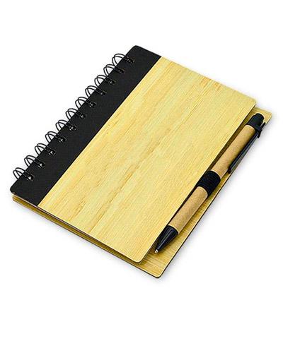 Bloco de Anotação - Bloco Promocional com capa de Bambu