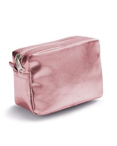Brindes Outubro Rosa - Bolsa Rosa para Cosméticos Personalizadas
