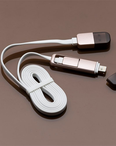Brindes Personalizados -  Cabo de Dados USB para Carregador Port�til Personalizado