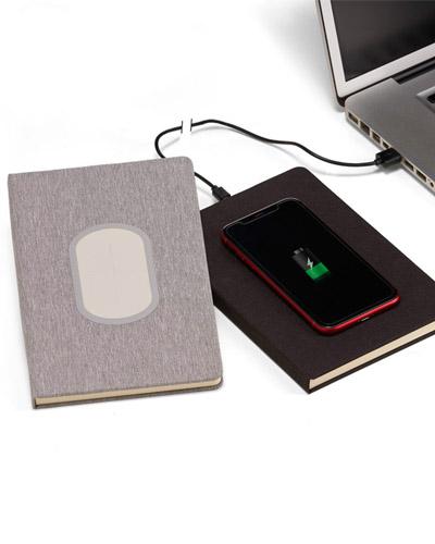 Cadernos Personalizados - Caderno com Carregador Power Bank Personalizado