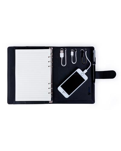 Carregador Portátil Personalizado - Caderno com Powerbank Personalizado