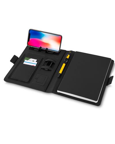Carregador Portátil Personalizado - Caderno Personalizado com Powerbank