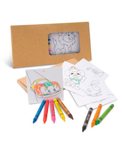 Brindes para Crianças - Caixa de Giz de Cera Personalizada