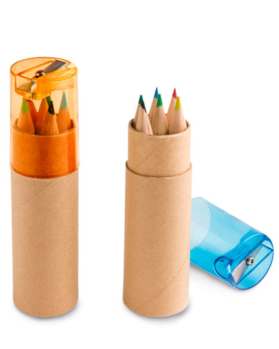 Brindes para Crianças - Caixa de Lapis Pequena Personalizada