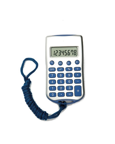 Calculadoras - Calculadora 8 Digitos com Cordão