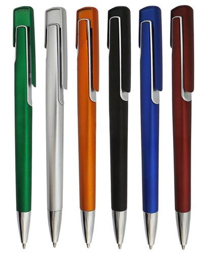 Brindes Personalizados -  Caneta Plástica com cores Variadas
