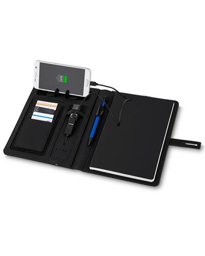 Cadernos Personalizados - Capa para Caderno com Powerbank para Brindes
