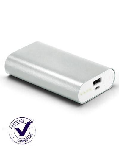 Carregador Portátil Personalizado - Carregador Portatil em Aluminio com 02 Baterias