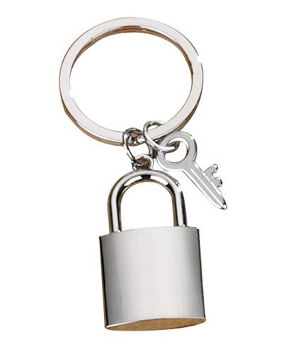 Brindes Personalizados -  Chaveiro de Metal Cadeado Personalizado