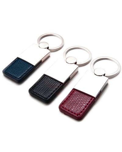 Chaveiro de Couro - Chaveiro em Metal e Couro Personalizado