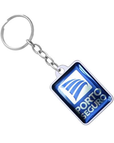 Chaveiro Resinado - Chaveiro Quadrado Resinado Personalizado
