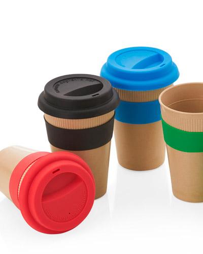 Copos para Cafe Personalizados - Copo Ecologico com Tampa de Silicone Personalizado