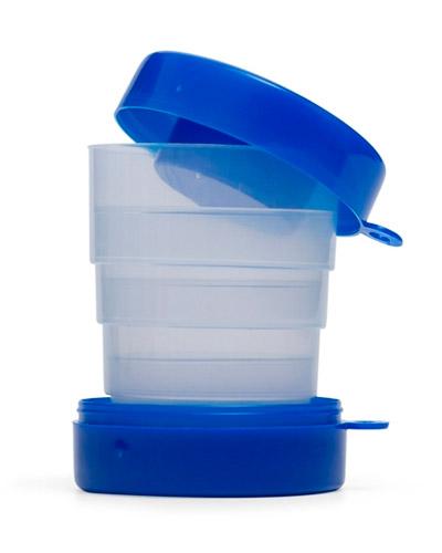 Copos Plasticos Personalizados - Copo Retrátil com porta Comprimido Personalizado