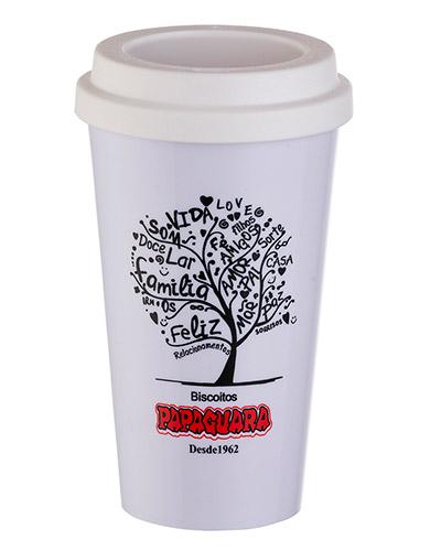 Copo com Canudo Personalizado - Copos de Café Personalizados para Brindes