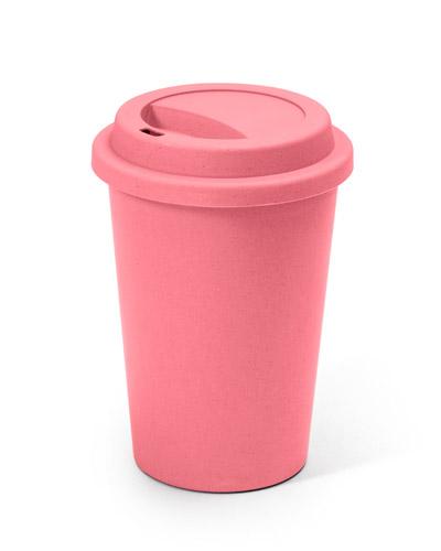 Brindes Outubro Rosa - Copos Rosas Biodegradáveis Personalizados