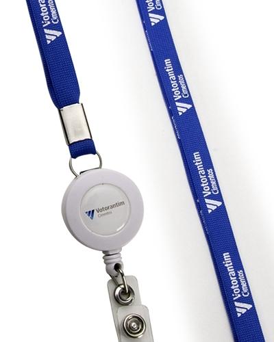 Cordão para Crachá Personalizado - Cordão Porta Crachá Retrátil Personalizado