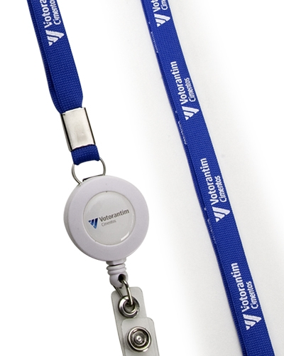 Brindes Personalizados -  Cord�o Porta Crach� Retr�til Personalizado