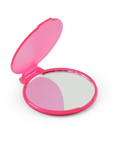 Brindes Outubro Rosa - Espelho de Maquiagem Rosa Personalizado