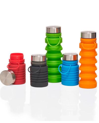 Garrafa Squeeze - Garrafa de Silicone Dobrável Personalizada